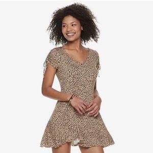 EUC Kohl's Love, Fire Swing Dress Animal Print XS